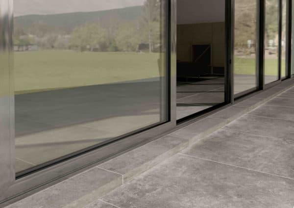 Artstone Grey London Dark keramische tegel voor buiten keramiek met betonlook