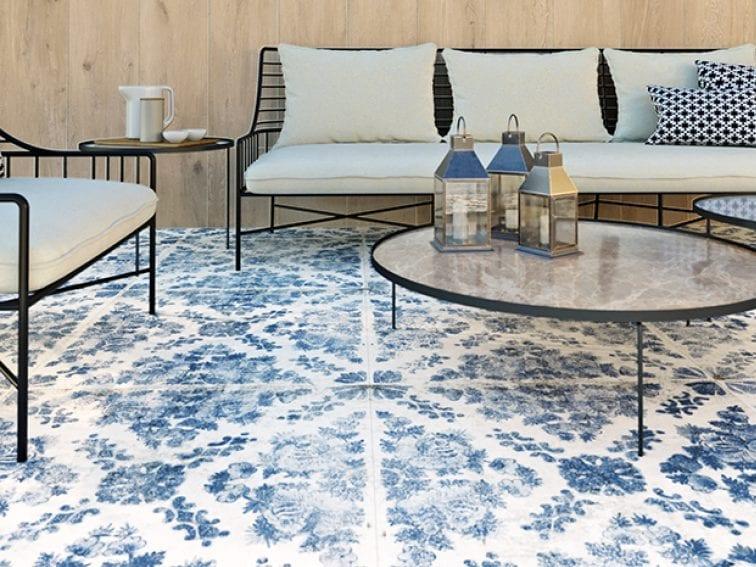 Keramische tegels groot formaat decor