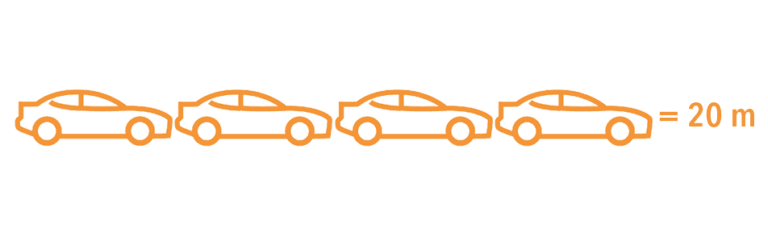 iconen auto's 20 meter lang